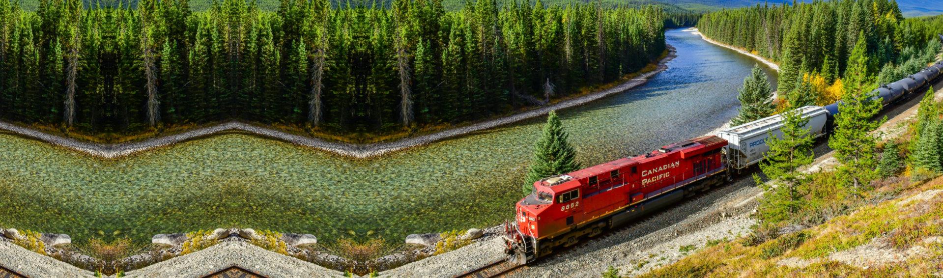 train accross the border